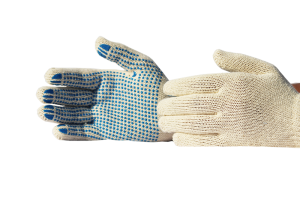 Cotton Knitted Gloves Polka Dots
